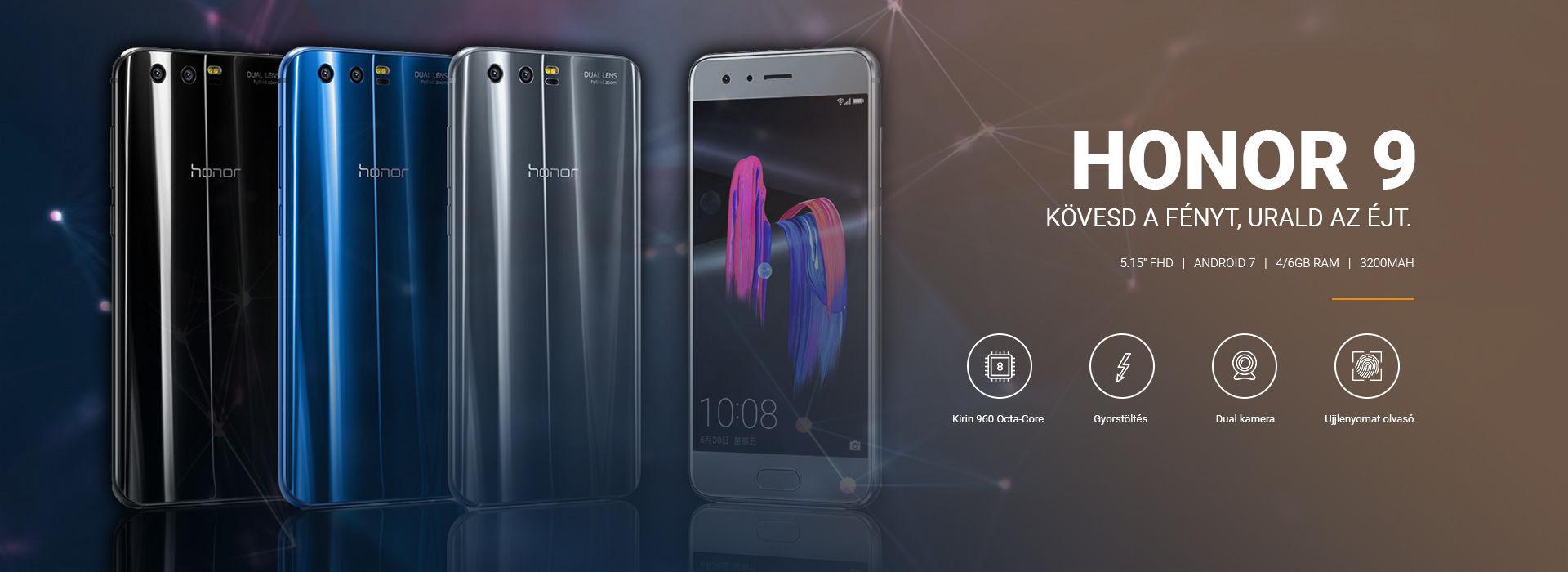 A Huawei egyik gyöngyszeme: Honor 9