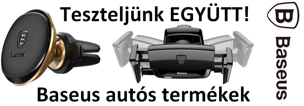 Teszteljünk EGYÜTT! BASEUS autós termékek.