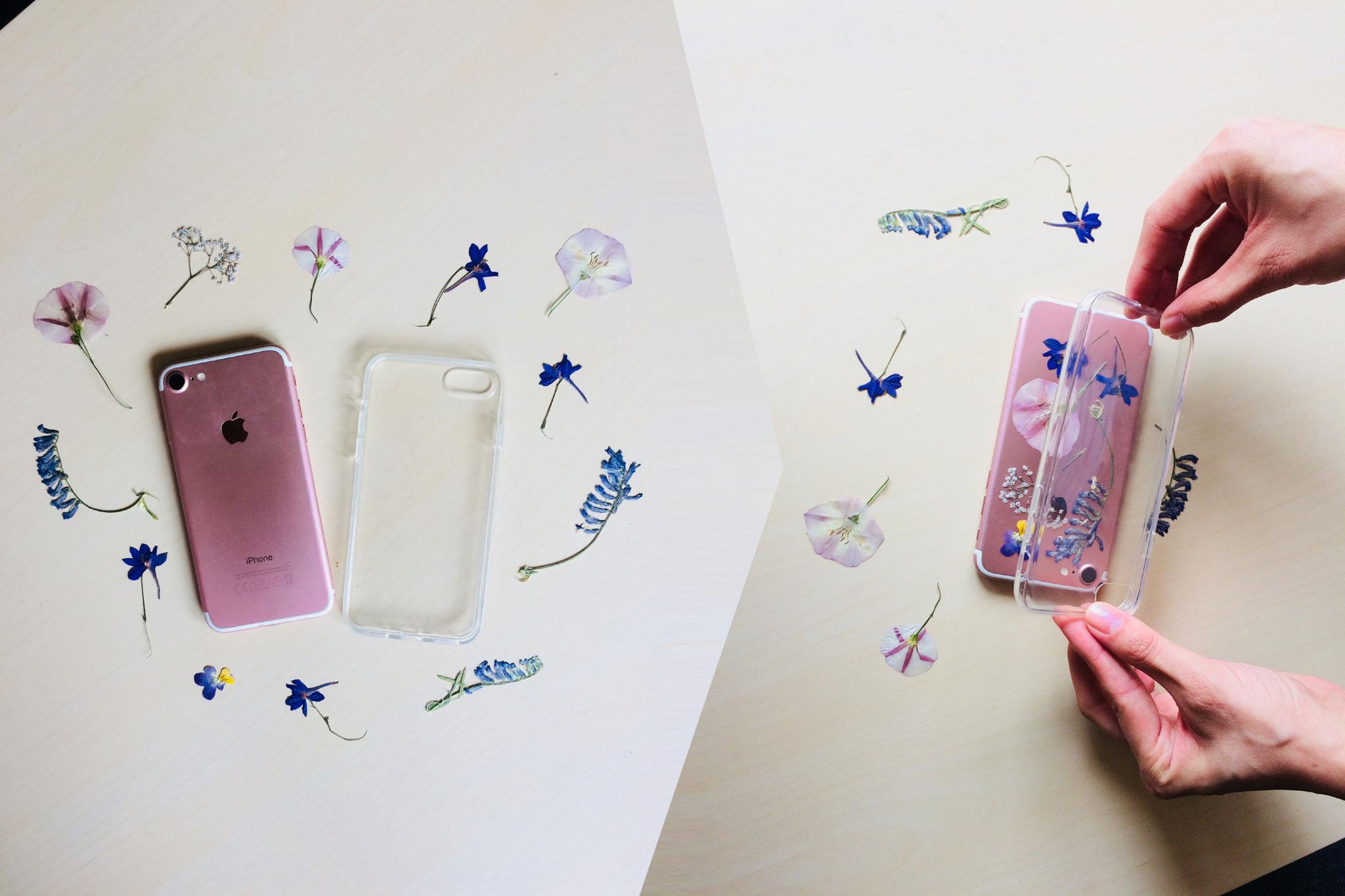 DIY - Díszítsd préselt virágokkal mobiltokod