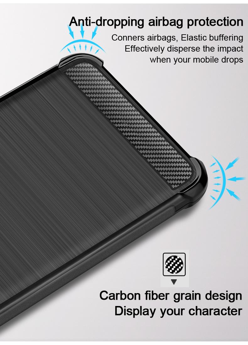 Imak Vega Carbon szilikon telefonvédő tok erősített sarkokkal